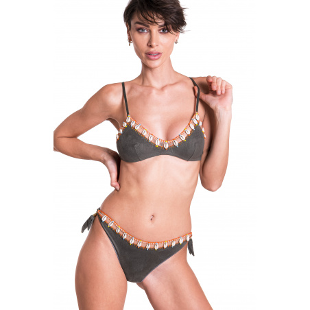 Bikini Fascia Conchiglie Slip Medio