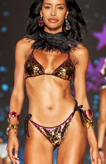 Bikini Padded Triangle Briefs Brazilian Full Sequins Macula Pin-Up Stars - 1