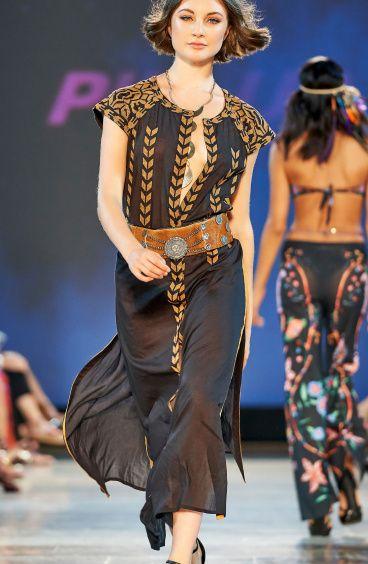 Long Dress Ricamato Etnic Embroidery Pin-Up Stars - 5
