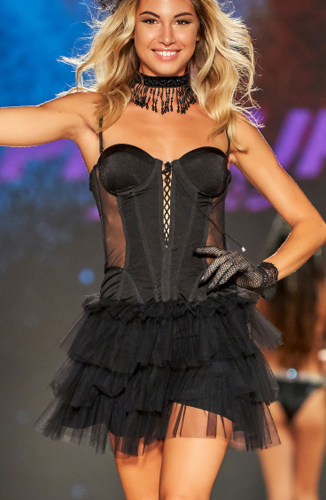 Dress With Tulle Flounces Pin-Up Stars - 1