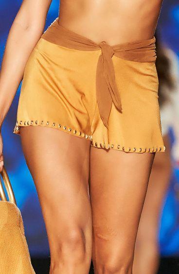 Shorts Ricamo Borchie Pin-Up Stars - 14