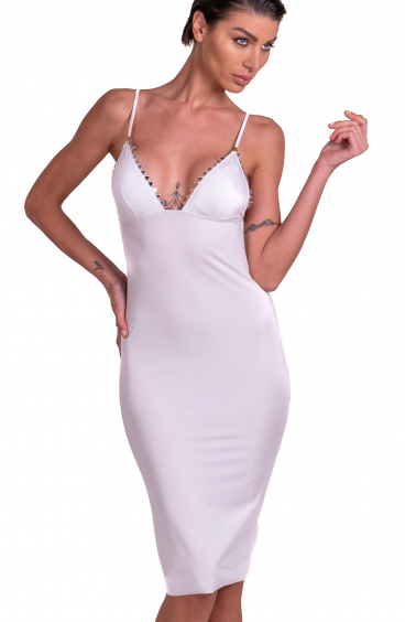 Sheath Dress With Straps Studs Pointed Mirror Pin-Up Stars - 4