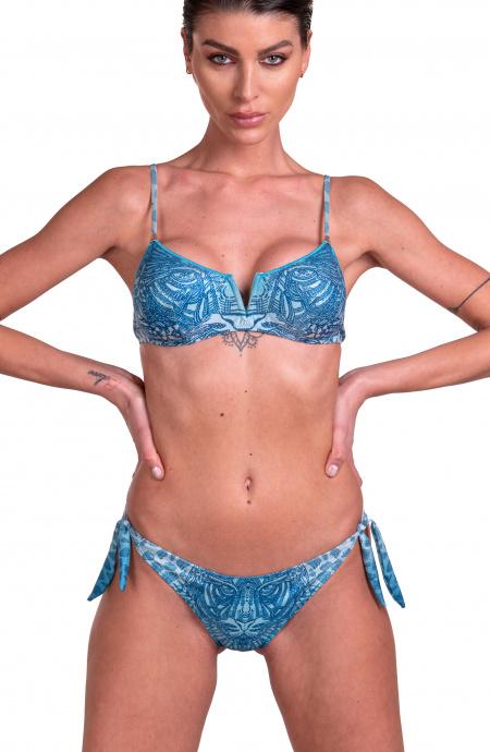Bikini Brassiere V Centrale Slip Brasiliana Animal Cool Degradè Pin-Up Stars - 1