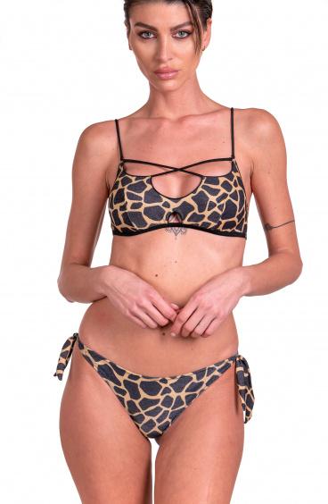 Bikini Brassiere Slip Brasiliana Giraffa Pin-Up Stars - 1