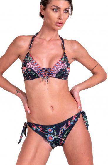 Bikini Brassiere Camaleonte Scollo Incrociato Slip Lady Pin-Up Stars - 4