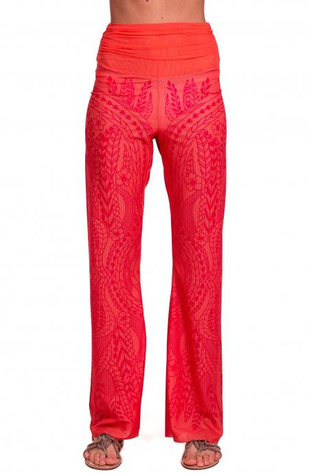 Pantalone Etnic Flower Pin-Up Stars - 1