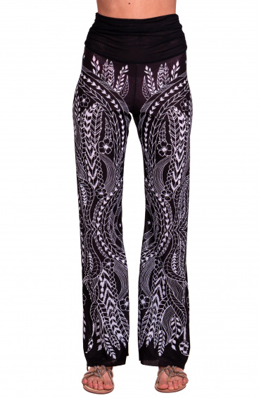 Pantalone Etnic Flower Pin-Up Stars - 9