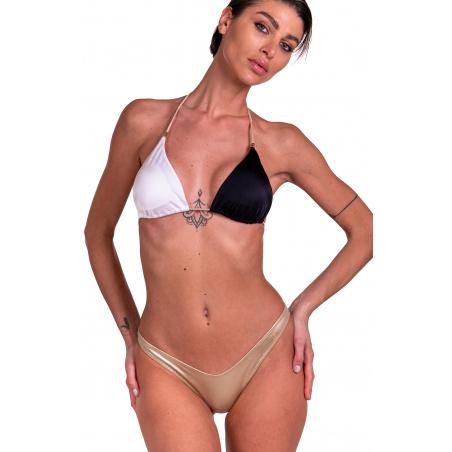 Bikini Triangolo Imbottito Slip Sgambato Bicolor