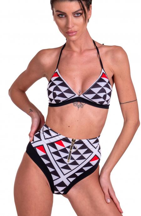 Bikini Brassiere Grafic Slip A Vita Alta Agogoa - 4