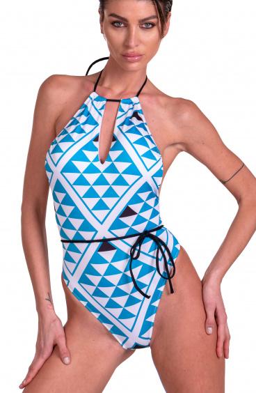 Costume Da Bagno Intero Goccia Grafic Agogoa - 2