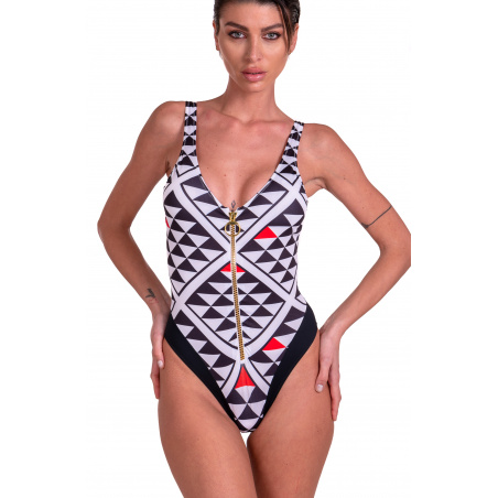 Costume Da Bagno Intero Grafic Con Zip