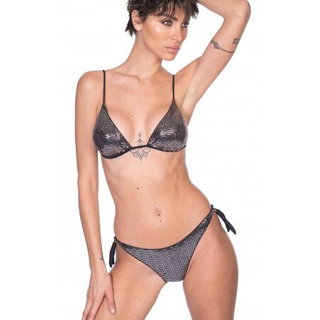 Padded Triangle Bikini Slip Bows Full Mirrors