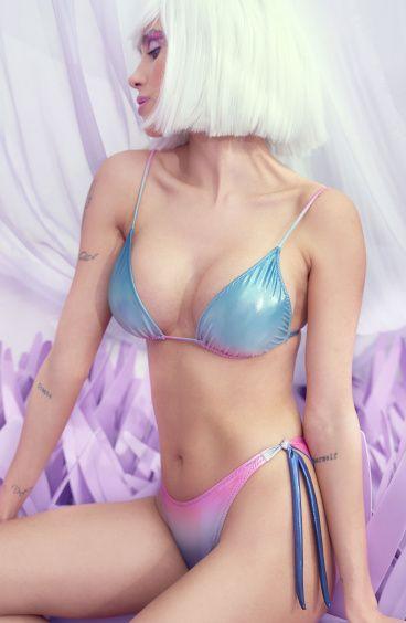 Bikini Triangolo Slip Brasiliana Sfumato Poisson D'Amour - 5
