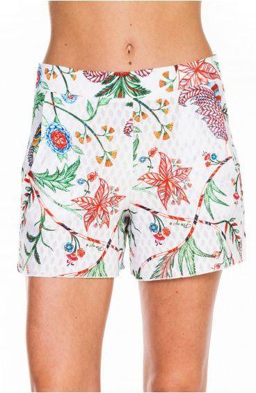 Shorts Con Tasche Stampa Camaleonte Pin-Up Stars - 1