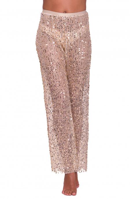 Pantalone Rete Paillettes Pin-Up Stars - 1