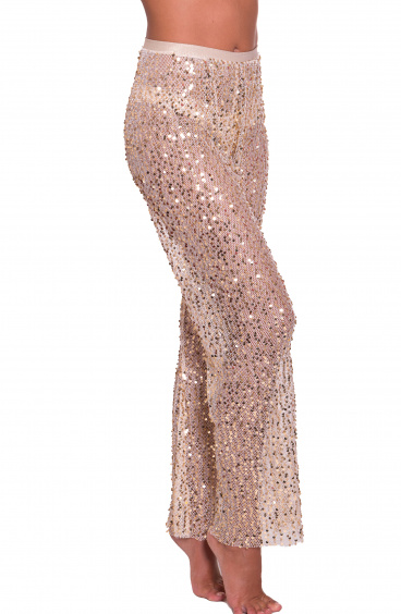 Paillettes Net Trousers Pin-Up Stars - 3