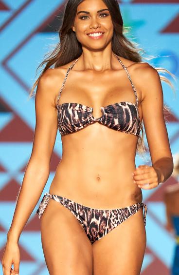 Bikini Fascia Imbottita Slip Brasiliana Animal Colors Agogoa - 1
