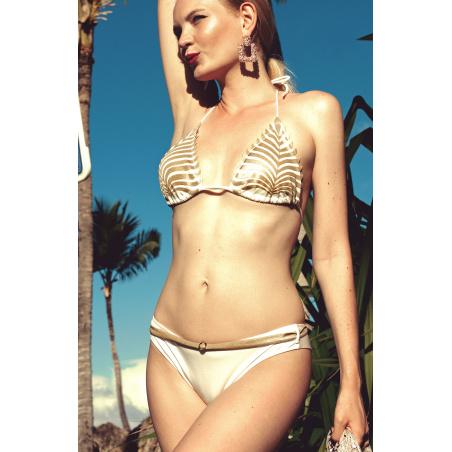 Bikini Triangolo Imbottito Slip Culotte Foglia Laser
