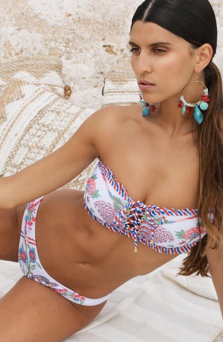 Bikini Fascia Imbottita Slip Culotte Camaleonte Pin-Up Stars - 1
