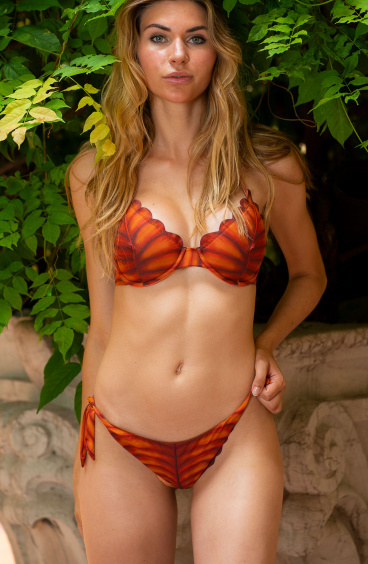 Balconette Bikini With Underwire Leaf In Recycled Lycra Pin-Up Stars - 5