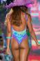 Costume Intero Imbottito Stampa Dune Con Borchie Pin-Up Stars - 1