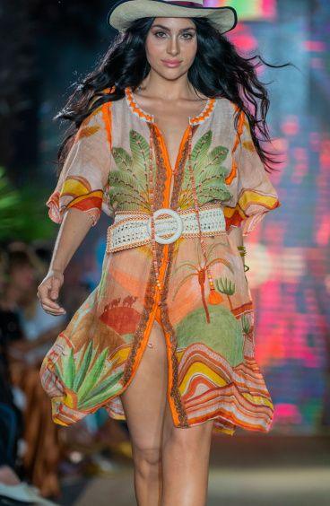 Dress Garza Stampa Dune Pin-Up Stars - 1