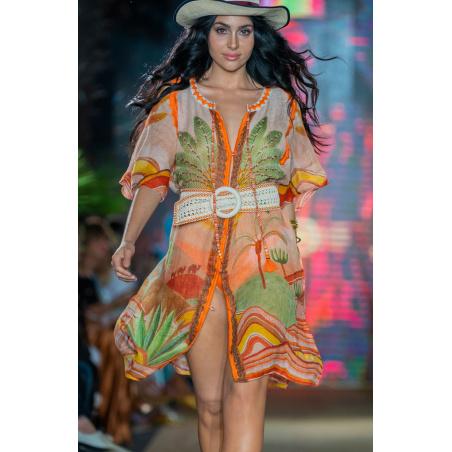 Dress Garza Stampa Dune