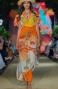 Long Dress Scollo a V In Garza Stampa Dune Pin-Up Stars - 3