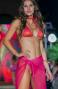 Bikini Triangolo Imbottito Slip Brasiliana Stampa Piuma Paillettes Pin-Up Stars - 3