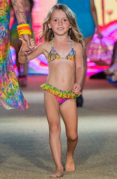 Baby Bikini Triangolo Slip Gonnellino Flower Rainbow - 1