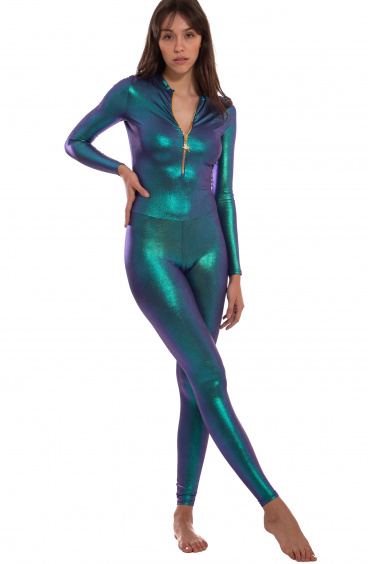 Fitted Suit With Zip Lycra Lamina Scarabeo Pin-Up Stars - 1