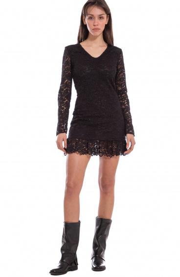 V-Neck Lace Dress Pin-Up Stars - 1