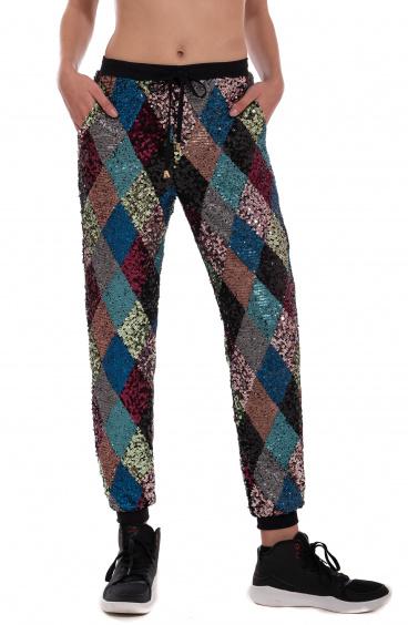 Pantalone Gym Diamond Paillettes Pin-Up Stars - 1