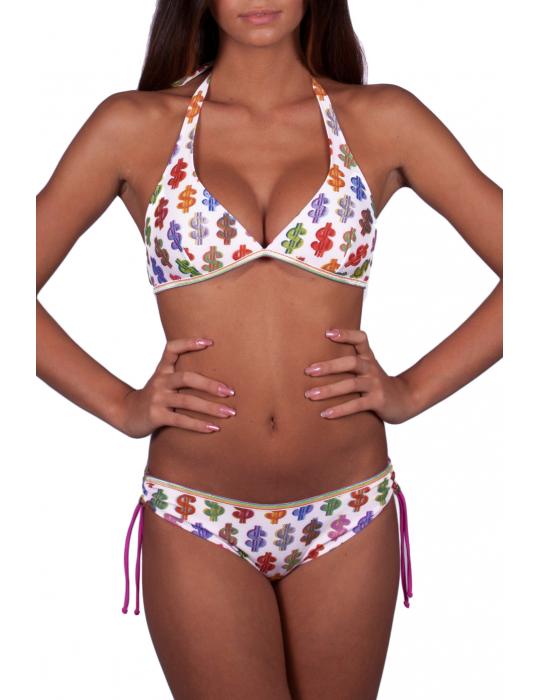 Bikini Brassiere stampa Dollari