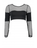 Crop Top with Long Sleeves and net Insert Mariland