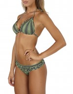 Bikini Triangolo Push-up con decoro cut-out e stampa Tribal Chic