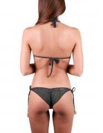 Bikini Triangolo Scorrevole ricamo Militare Navy