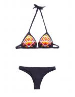 Bikini Triangolo scorrevole perline Jais