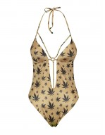 Costume Intero Cleopatra stampa Marijuana